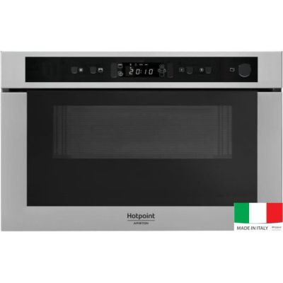 image HOTPOINT MH 400 IX - Micro-ondes combiné encastrable inox anti-trace - 22L - 750 W - Grill 700 W