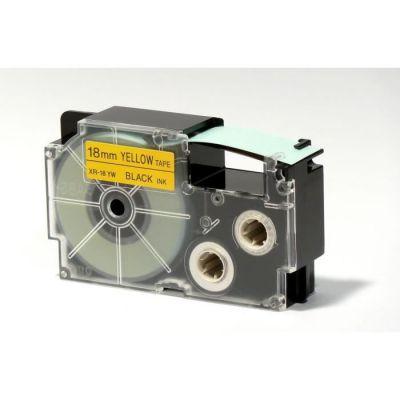 image Casio Ruban adhésif pour étiqueteuse électronique Noir sur jaune 18 mm