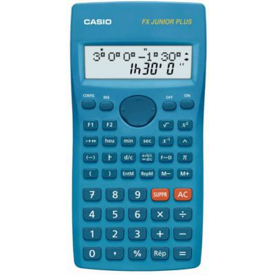 image Casio FX Junior+ Calculatrice Scientifique - Bleu