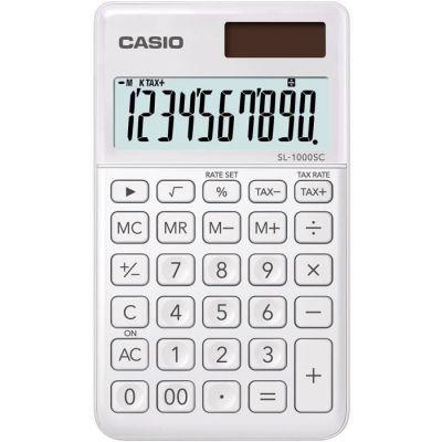 image Casio SL 1000 SC WE Calculatrice de Poche Blanc