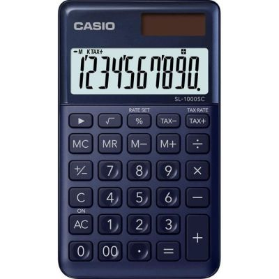 image Casio SL 1000 SC NY Calculatrice de poche Bleu Marine