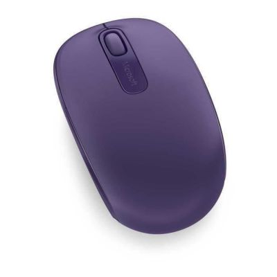 image Microsoft - Wireless Mobile Mouse 1850 - Souris sans Fil avec nano récepteur USB pour PC, ordinateurs portables compatible Windows, Mac, Chrome OS - Purple (U7Z-00044)