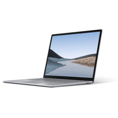 """image Microsoft Surface Laptop 3 (Windows 10, écran tactile 15"""", AMD Ryzen 5, 8Go RAM, 128Go SSD, Platine, finition Alcantara, clavier AZERTY français) L'ordinateur portable fin, léger & performant"""