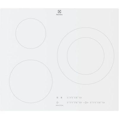 image ELECTROLUX LIT60342CW - Table de cuisson induction - 3 zones - 7350 W - L 59 x P 52 cm - Revêtement verre - Blanc