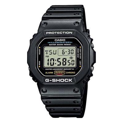 image Casio G-SHOCK Homme Digital Quartz Montre avec Bracelet en Caoutchouc DW-5600E-1VER