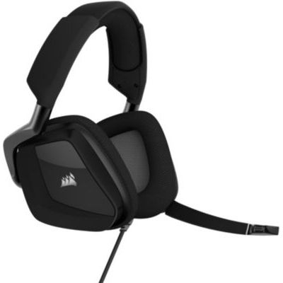 image Corsair VOID ELITE RGB USB Casque de Gaming Son surround 7.1, Microphone omnidirectionnel optimisé, Customisable Éclairage RGB, Maille microfibre coussinets, Armature aluminium Noir