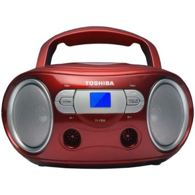 image TOSHIBA TY-CRS9 BoomBox CD Portable - Rouge