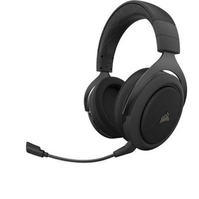 image Corsair HS70 PRO Wireless Casque de Gaming Son surround 7.1, Sans-fil 2,4 GHz à faible latence, 12 mètres Portée, Léger, Unidirectionnel Antibruit Microphone avec PC, PS4 Compatibilité - Noir