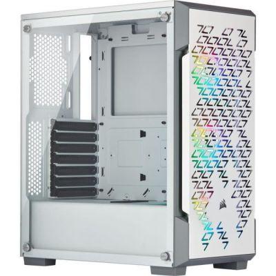 image Corsair iCUE 220T RGB Airflow, Moyen-Tour ATX Boitier Gaming en Verre Trempé - Blanc