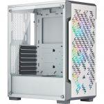 Boîtier PC Gaming Corsair iCUE 220T RGB - Blanc, Vitre Verre Trempé - livrable en France