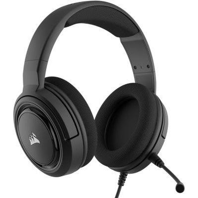 image Casque de Gaming Corsair HS35 (Écouteurs Néodyme de 50 mm, Microphone Unidirectionnel Amovible) - Carbone