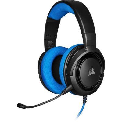 image Corsair HS35 Casque de Gaming Stéréo (Écouteurs Néodyme de 50 mm, Microphone Unidirectionnel Amovible, Conception Légère avec Xbox One, PS4, Nintendo Switch et Mobiles Compatibilité) - Bleu