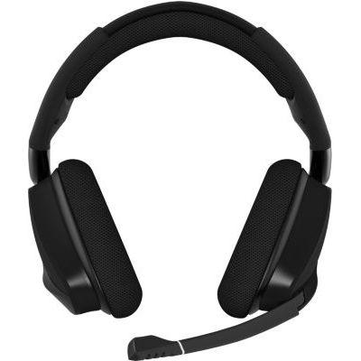 image produit Corsair CA-9011201-EU VOID ELITE RGB Wireless Casque de Gaming Son surround 7.1, Sans-fil 2,4 GHz à faible latence, 12 mètres Portée, Customisable Éclairage RGB avec PC, PS4 Compatibilité - Noir