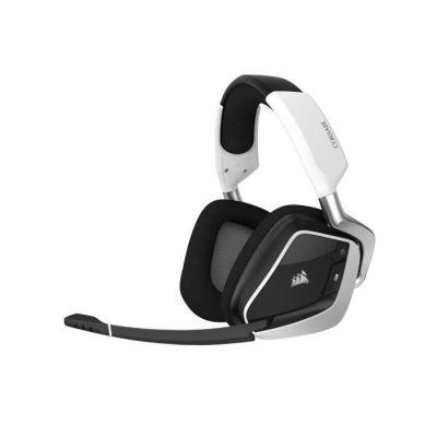 image Corsair CA-9011202-EU VOID ELITE RGB Wireless Casque de Gaming Son surround 7.1, Sans-fil 2,4 GHz à faible latence, 12 mètres Portée, Customisable Éclairage RGB avec PC, PS4 Compatibilité - Blanc