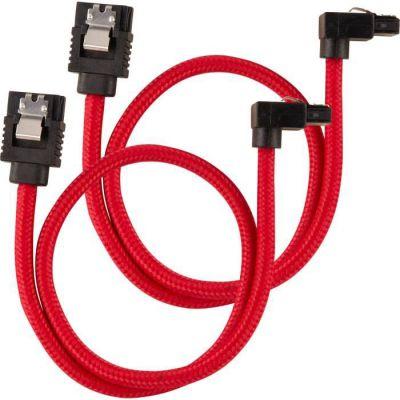 image Câble SATA gainé CORSAIR Premium - SATA 6Gbps 30 cm, connecteur à 90°, bleu