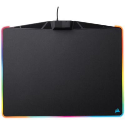 image Corsair MM800 RGB Polaris Tapis de Souris Gaming (Moyen, 15 Zones RGB, Surface Dure) Noir