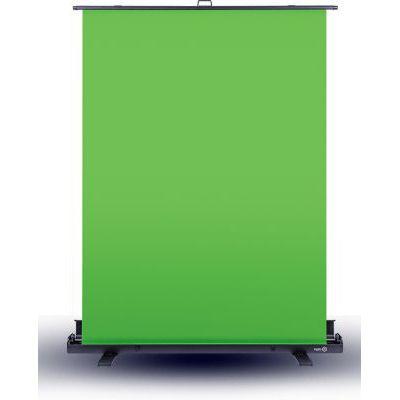 image produit Elgato Green Screen - Fond Vert Rétractable pour Suppression de l'arrière-Plan, avec Cadre autobloquant, Toile Verte Anti-Plis, Boîtier en Aluminium, Installation et Démontage Ultra-Rapides
