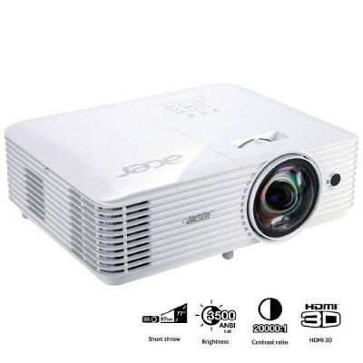 image ACER Projecteur DLP (Digital Light Processing) S1286H - 4:3 - XGA - Résolution 1024 x 768 - 3500 lm - 20,000:1 - Avant et Arrière