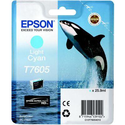 image EPSON cartouche d'encre  T7605 C CLAIR 25.9ML