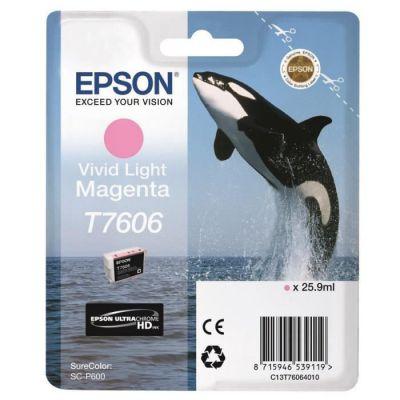 image Epson cartouche d'encre T7606 M CLAIR 25.9ML Vivid Magenta Clair L