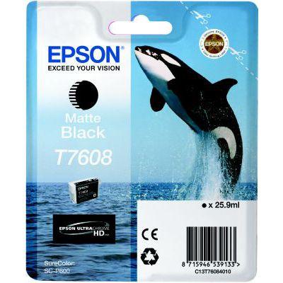 image Epson cartouche d'encre  T7608 N MAT 25.9ML L Noir Mat