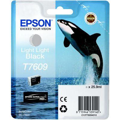 image EPSON cartouche d'encre  T7609 N TRES CLAIR 25.9M, Noir, L