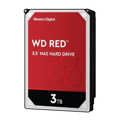image Western Digital Disque dur interne rouge 3 To (3,5 pouces, disque dur NAS, 5400 tr / min, SATA 6 Gbit / s, technologie NASware, pour les systèmes NAS en fonctionnement continu) Rouge