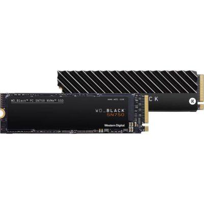 image WD Black SN750 NVMe - Disque SSD interne haute-performance pour ordinateurs de jeu, 2 To, avec dissipateur