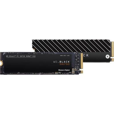 image WD Black SN750 NVMe - Disque SSD interne haute-performance pour ordinateurs de jeu, 500 Go, avec dissipateur