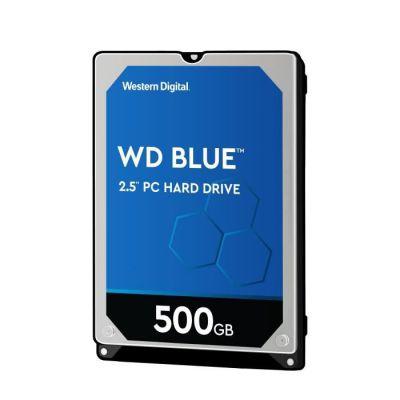 image WD Blue Disque Dur Mobile Interne de 500 Go (6 mm de Hauteur 5400 tr/min SATA 6 Gb/s 8 Mo de Mémoire Cache 6,4 cm 2,5 pouces) Conforme RoHS Interne