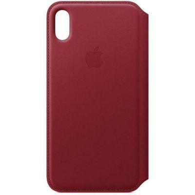 image Apple Étui folio en cuir (pour iPhoneXSMax)- (PRODUCT)RED