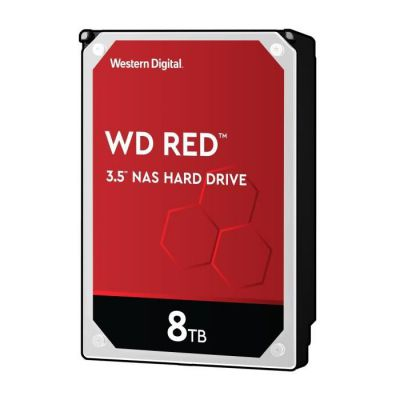 """image WD Red 8TB 3.5"""" NAS Disque dur Interne - 5400 RPM Class, SATA 6 Gb/s, CMR, 256MB Cache - WD10EFRX"""