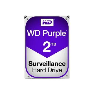 """image Western Digital - WD Purple 2To - Disque dur interne pour la vidéo surveillance avec technologie Allframe 4K™ - 3.5"""" SATA 6 Go/s, 180To/an, 64Mo Cache, 5400rpm - WD20PURZ"""