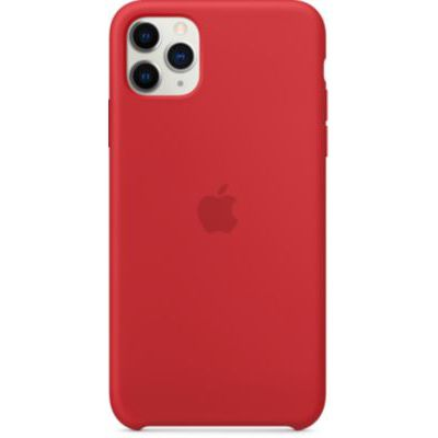 image Apple Coque en Silicone (pour iPhone 11 Pro Max) - (PRODUCT)RED