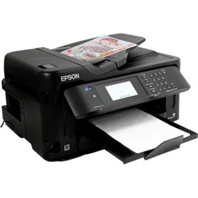 image EPSON Imprimante Jet d'Encre Multifonction WorkForce WF-7715DWF - Couleur - Copieur/TéléImpression N&B