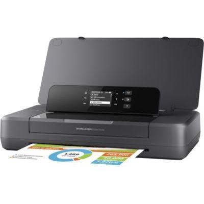 image HP OfficeJet 200 Imprimante à Jet d'encre Mobile (A4, Imprimante, WLAN, HP ePrint, Airprint, USB, 4800 x 1200 dpi) Noir