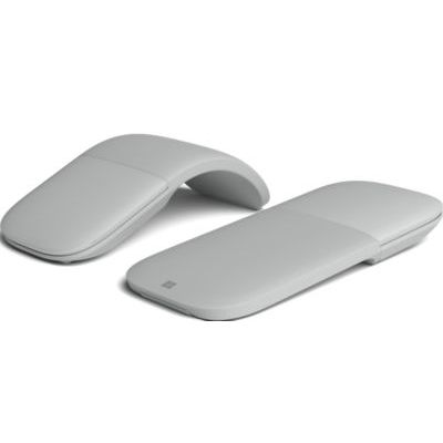 image produit Microsoft – Souris Arc Surface – souris Bluetooth pour PC, ordinateurs portables compatible Windows, Mac, Chrome OS (fine, légère, transportable, tactile) – Platine/gris (CZV-00002)