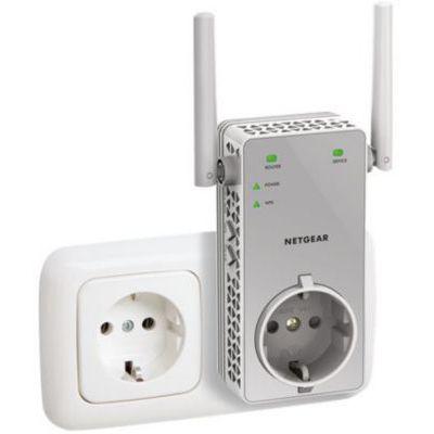 image NETGEAR Répéteur WiFi (EX3800), Amplificateur WiFi AC750, WiFi Booster, jusqu'à 70m² et 15 appareils, repeteur WiFi puissant contre les Zones mortes, Prise de Courant Intégrée, compatible toutes Box