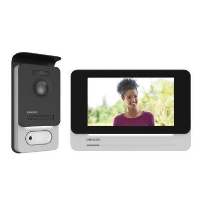 """image Philips Welcome 531001 Visiophone Tactile qualité d'image/Haut Niveau de sécurité, Noir, 7"""""""