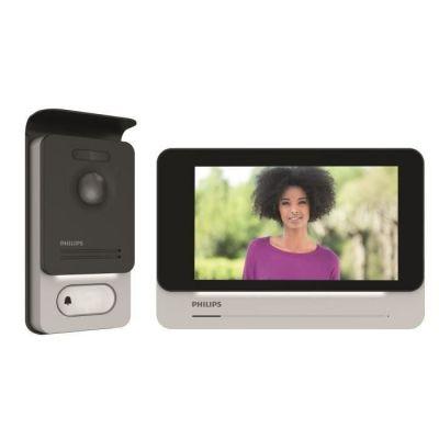 image Philips Welcome 531002 Visiophone tactile haute qualité d'image/toujours connecté, Noir, 7 pouces