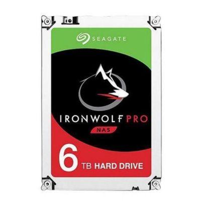 "image Seagate IronWolf Pro 6 To, Disque dur interne NAS HDD – CMR 3,5"" SATA 6 Gbit/s, 256 Mo de mémoire cache, pour NAS RAID (ST6000NE000)"