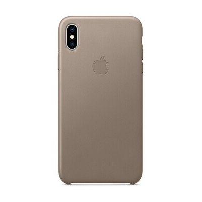 image Apple Coque en Cuir (pour iPhoneXSMax) - Taupe