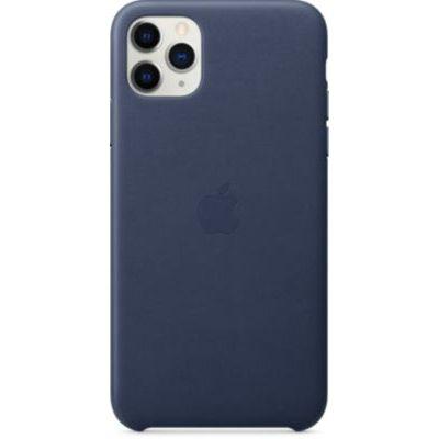 image Apple Étui Folio en Cuir (pour iPhone 11 Pro Max) - Bleu Nuit