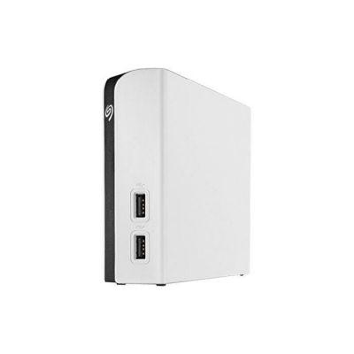 image Seagate Game Drive Hub pour Xbox 8 To, Disque dur externe Desktop HDD avec deux ports USB – Blanc, conçu pour Xbox One, et services Rescue valables deux ans (STGG8000400)