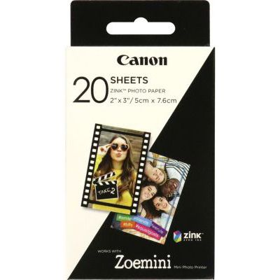 image Canon ZP-2030 Papier photo Technologie Z-Ink - Pack de 20 feuilles compatibles ZOEMINI