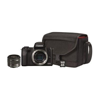 image Canon EOS M50 Noir + EF-M 15-45 mm is STM Noir + SB130 + SanDisk SD 16 Go
