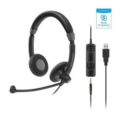 image Sennheiser SC 75 USB MS optimised Binaural Headset Noir