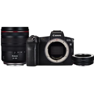 image CANON EOS R + RF 24-105mm f/4L is USM + Bague EF-EOS R