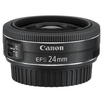 image Canon Objectif EF-S 24 mm F/2,8 STM + Canon ES-52 Pare-soleil pour objectif