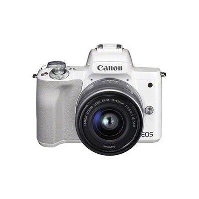 image Canon EOS M50 Appareil Photo Hybride + EF-M 15-45 mm F/3.5-6.3 STM - Blanc